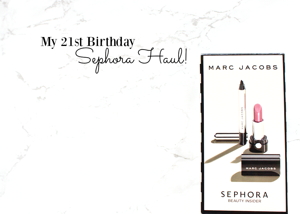 sephora birthday haul beauty insider 2016 ordering to the UK