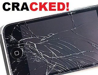 iphone screen damaged cracked