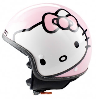 Hello Kitty motor cycle helmet
