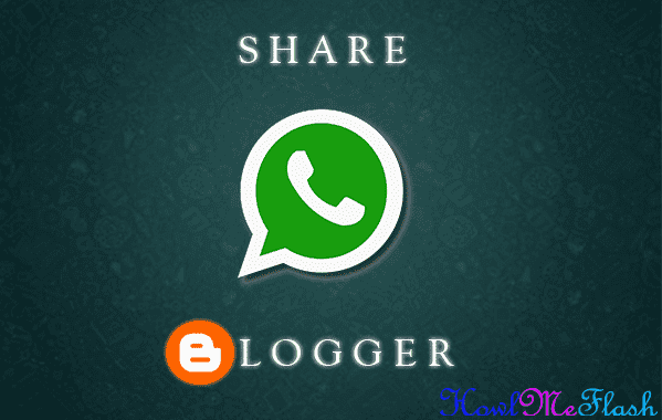 add WhatsApp Share button in Blogger