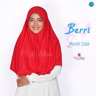 Hijab Alsa Berri Merah Cabe