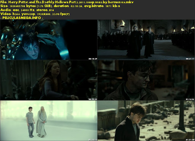 Descargar Harry Potter and the Deathly Hallows: Part 2 Subtitulado por MEGA.