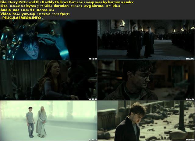 Descargar Harry Potter and the Deathly Hallows: Part 2 Subtitulado por MEGA.