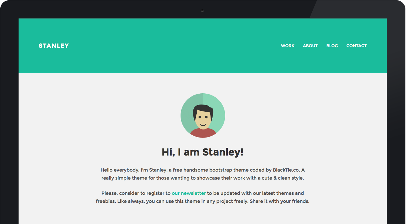 StanleyWP - free simple WordPress theme