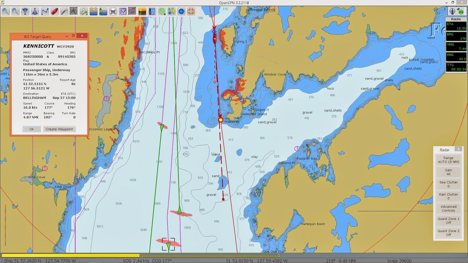 Sailing Adventures of David & Kathy: OpenCPN Radar overlay