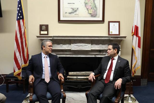 Marco Rubio se reunió con Iván Duque para tratar el tema de Venezuela