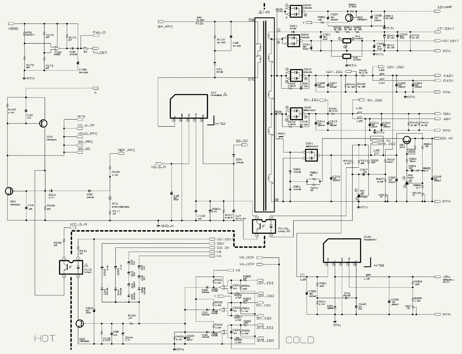 samsung b4k-5 bn96 smps schematic | electro help samsung lcd wiring schematic