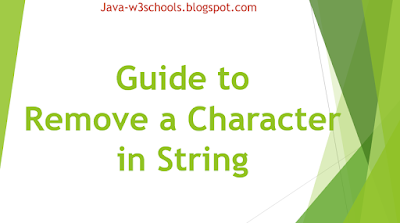 Guide to Remove a Character in String