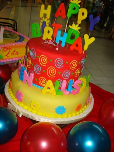 Loreen Allison S 2nd Birthday Cake By Red Ribbon Moist Chocolate In Boiled Icing The Name Was Little John I Asked Rr To Replace Topper