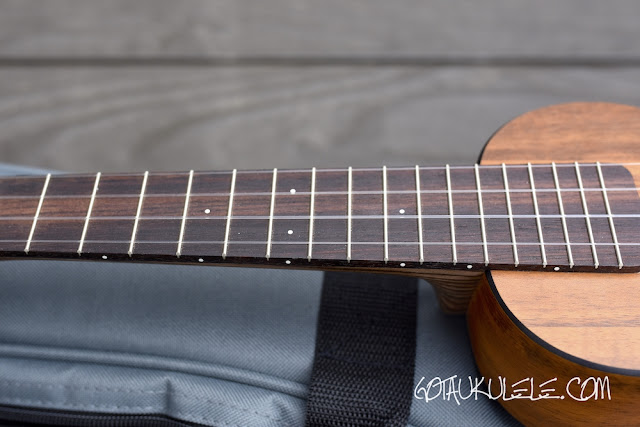 Martin 0XK Soprano Ukulele fingerboard