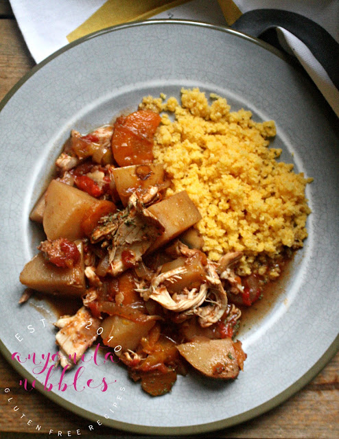 Gluten Free Slow Cooker Chicken Caccaitore with Gluten Free Couscous