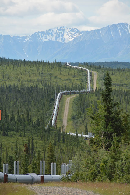 Alaska Pipeline mountain