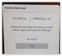 LG G6 H870 hard reset