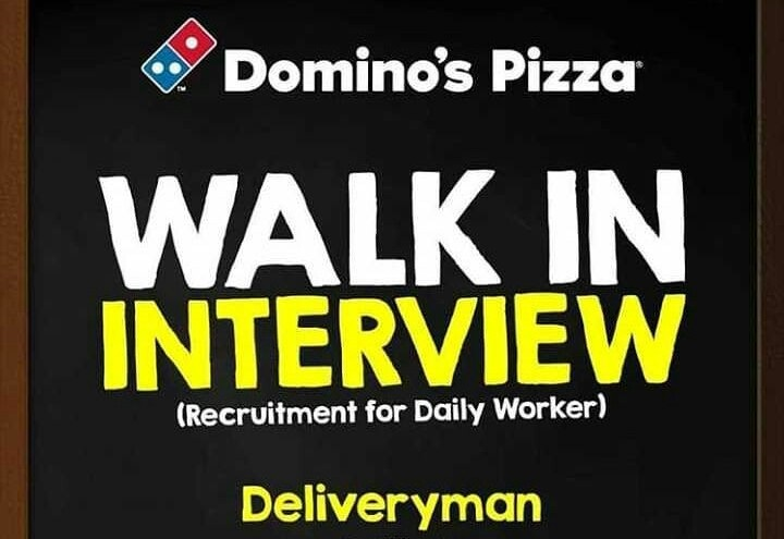Walk In Interview Kurir Di Dominos Pizza