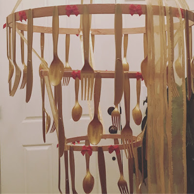Beauty and the Beast chandelier DIY- The style sisters
