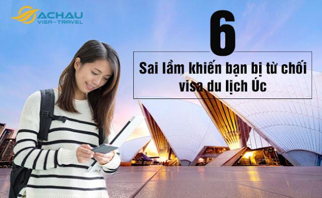 6 sai lầm khiến bạn bị từ chối visa du lịch Úc