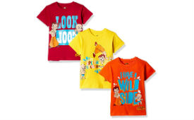 Chhota Bheem Boys' T-Shirt (Pack of 3) For Rs 319 (Mrp 799) at Amazon deal by rainingdeal