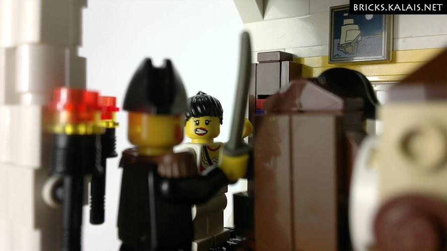 12. Jego córka właśnie zauważyła skradającego się kapitana piratów.