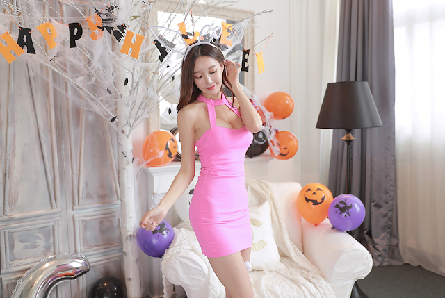 5 Yoon Ae Ji -  Halloween Set - very cute asian girl-girlcute4u.blogspot.com