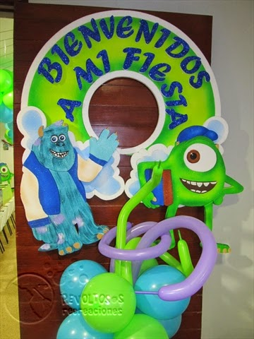 DECORACIÓN MONSTER UNIVERSITY FIESTAS INFANTILES