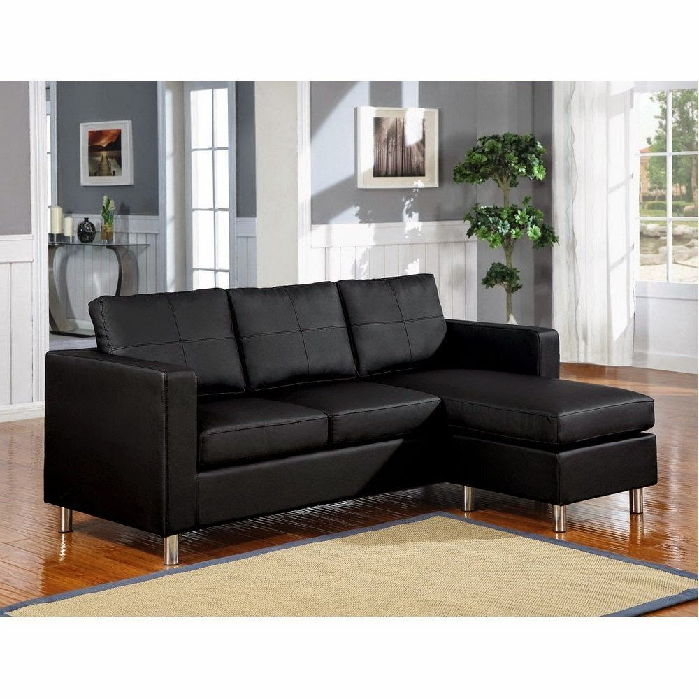 ACME 15065 Kemen Reversible Chaise Sectional  sc 1 st  couch with chaise - blogger : small black leather sectional sofa - Sectionals, Sofas & Couches