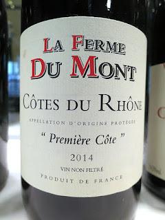 La Ferme Du Mont Première Côte Côtes du Rhône 2014 (88 pts)