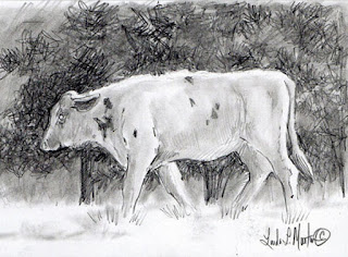 http://www.etsy.com/listing/223980471/steer-by-pines-graphite-on-paper