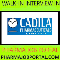 Cadila Pharmaceuticals Ltd  Walk In for Freshers & Experienced Candidates at 11  August