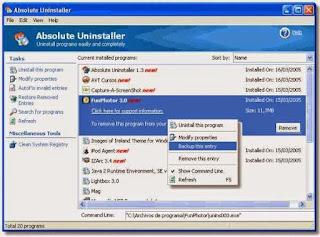 برنامج مسح وازاله البرامج من جذروها برنامج absolute uninstaller اخر اصدار 2016