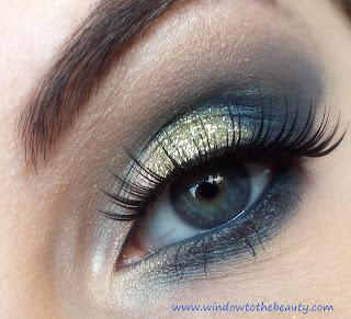 Niebiesko- Złoty Makijaż