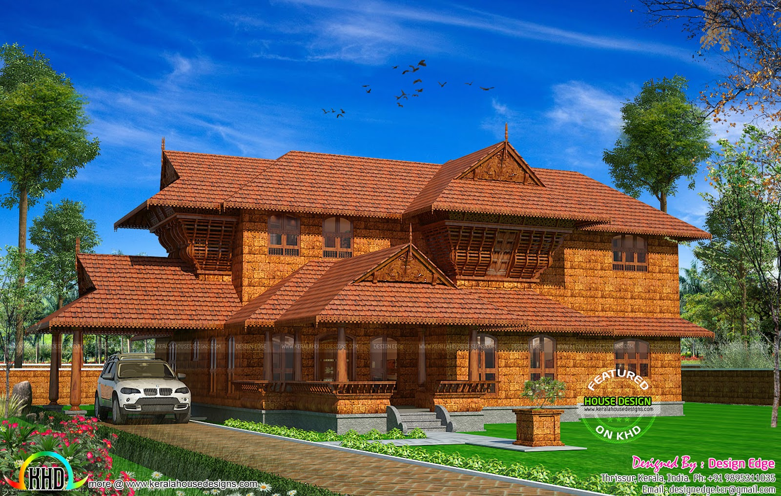 True kerala traditional house with laterite stone kerala for Kerala traditional home plans