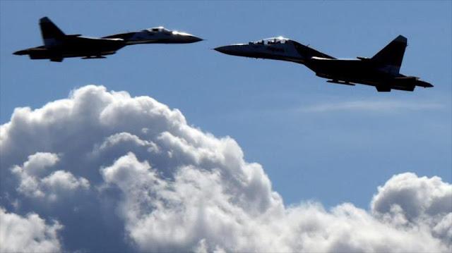 Cazas Su-27 de Rusia despegan de Crimea por una señal de alerta