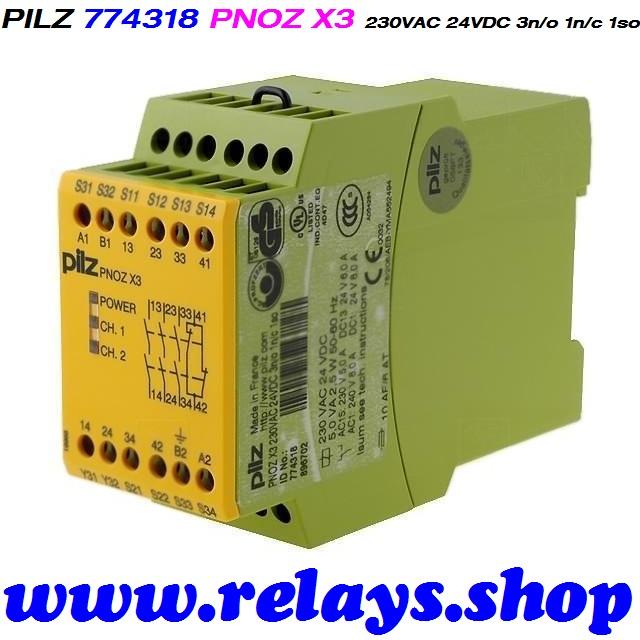 PILZ Safety Relays PNOZ MS3P 773820