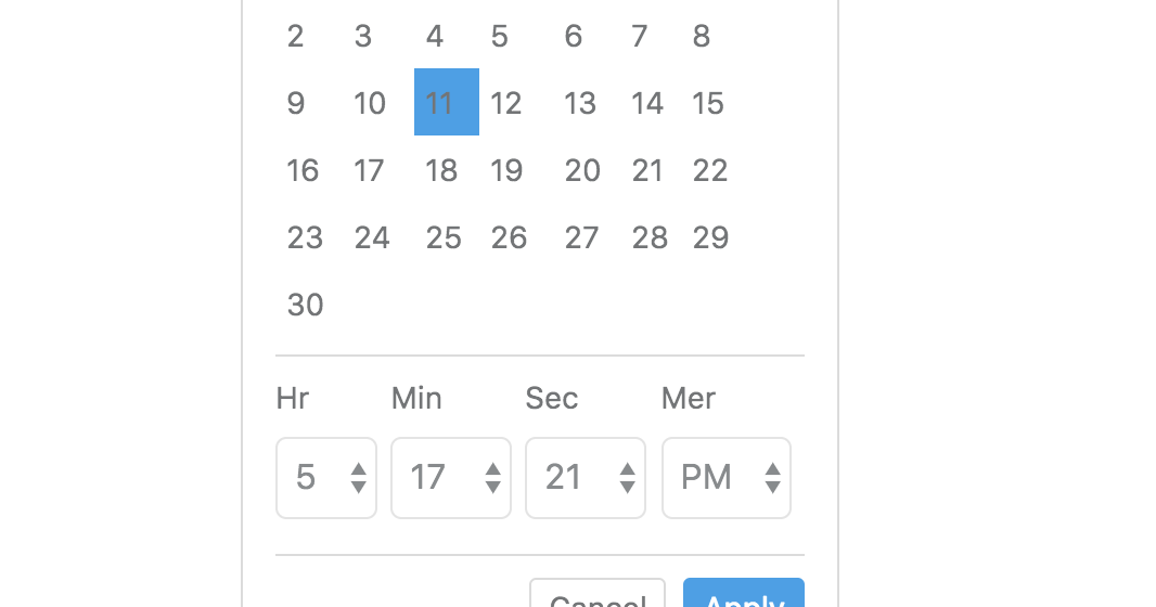 react-bootstrap-date-time-picker: Date Time Picker With