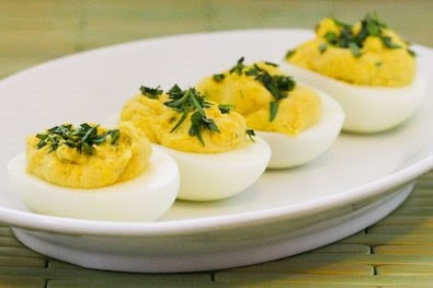 Tarragon Mustard Deviled Eggs