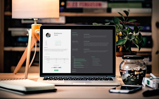 Resume Lite Blogger Template