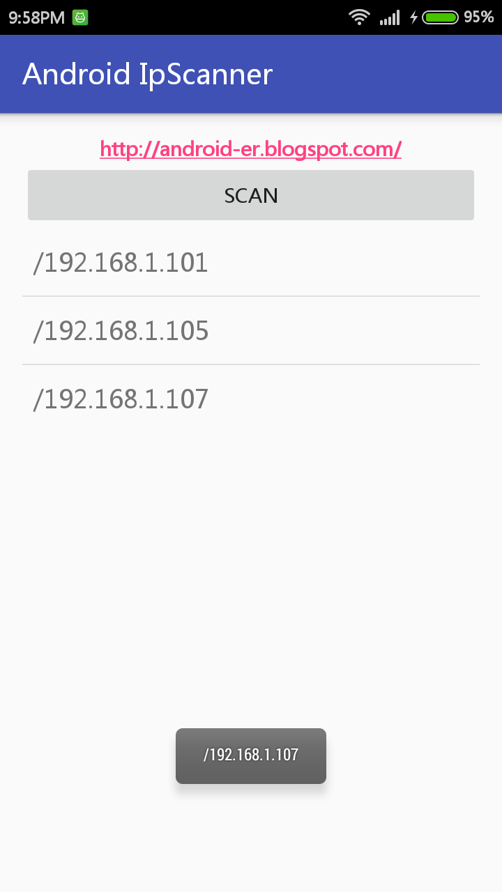 Android-er: Scan Reachable IP to discover devices in network