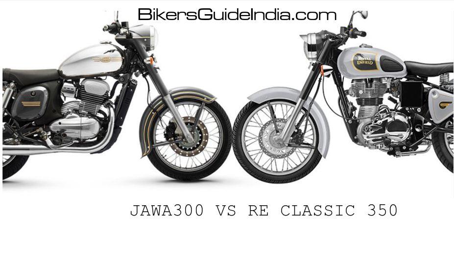 Comparison between Jawa 300 VS Royal Enfield classic 350