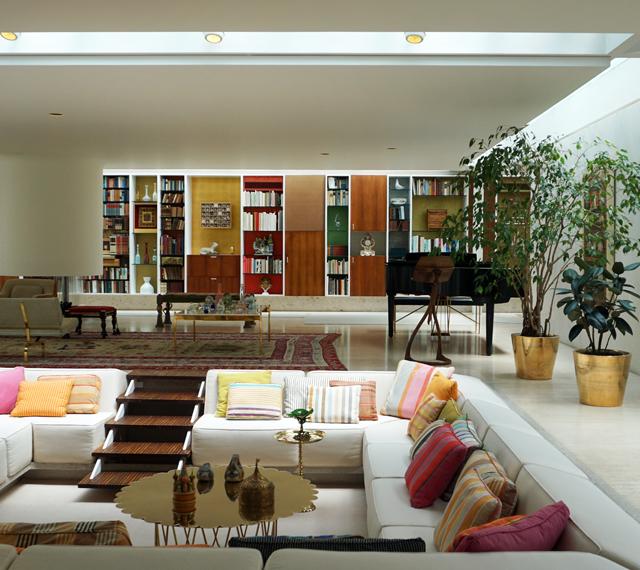 Eames Sofa Compact Score Live Matches The Miller House / Girard Saarinen