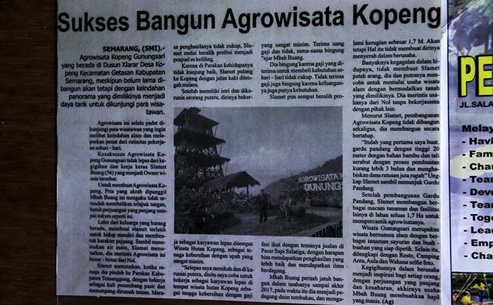 Kisah Pak Slamet Buang Membangun Agrowisata Kopeng Gunungsari
