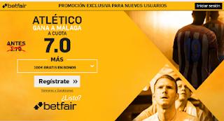 betfair supercuota 7 Atletico gana Malaga Liga 1 abril