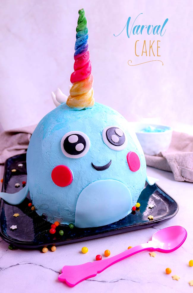 gâteau baleine licorne