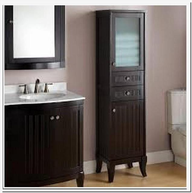Chelles bathroom linen storage cabinet
