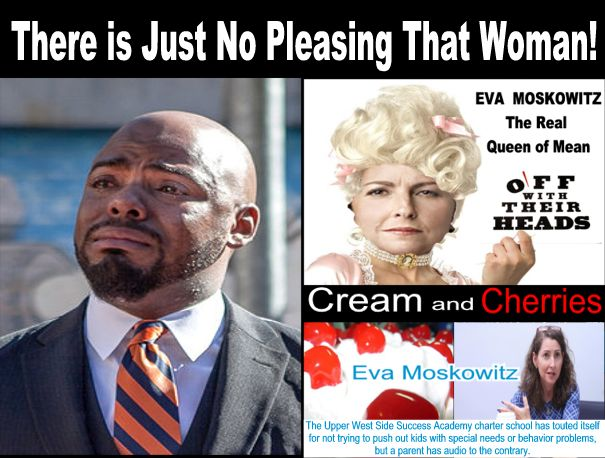 "Image result for big education ape eva moskowitz  ""got to go"" list,"