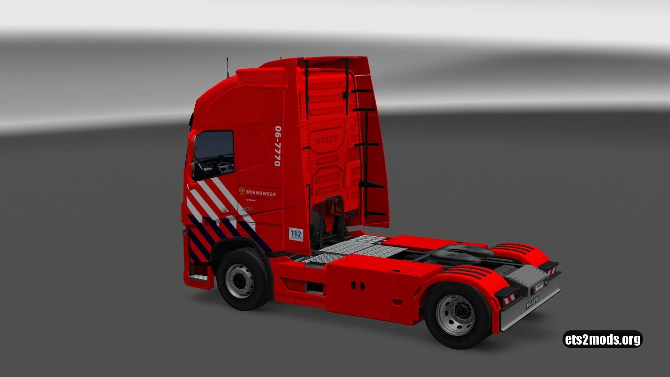 Volvo 2013 Dutch Firetruck Skin V 2.0