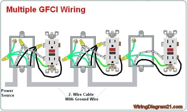 diagram wiring multiple gfci schematics