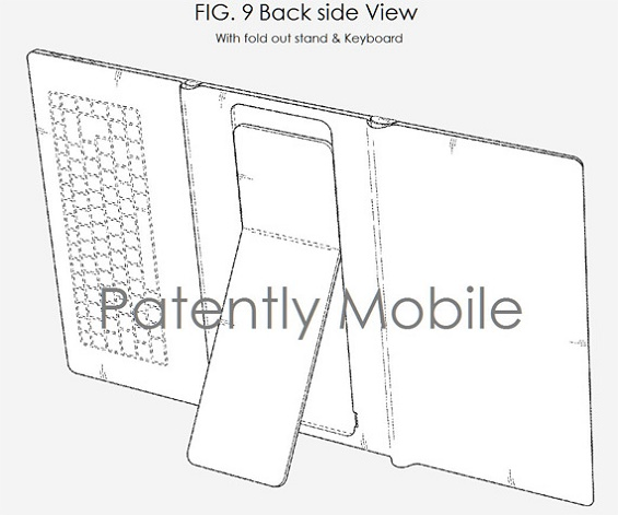 Samsung: testified patent for folding tablet