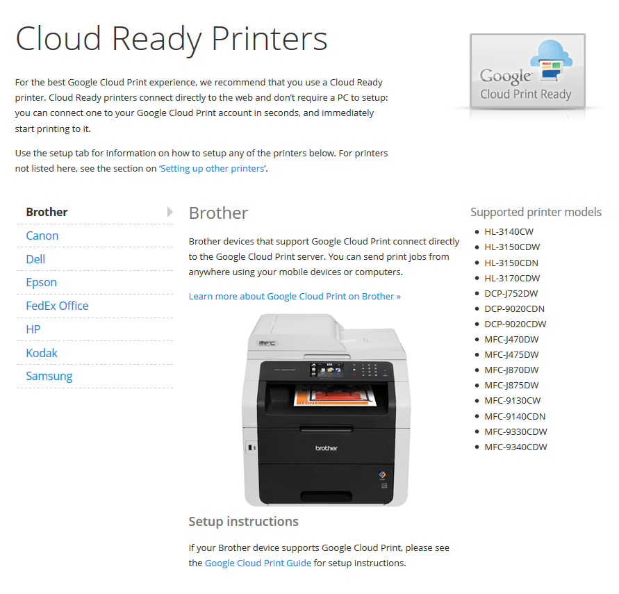 How To Register Brother Printer To Google Cloud Print Google