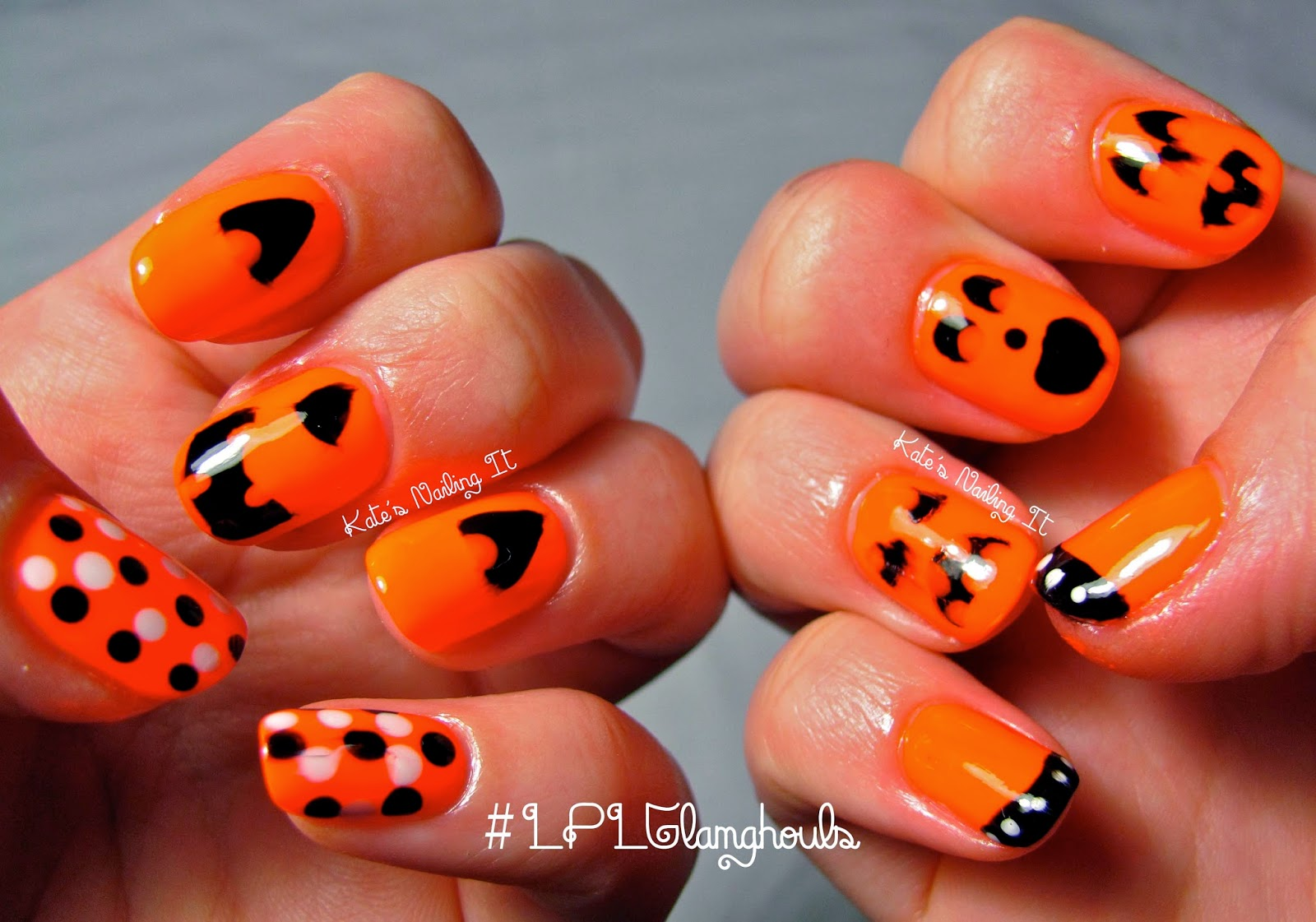 Kate\'s Nailing It: LPL Glamghouls Day 7: Jack O\' Lanterns