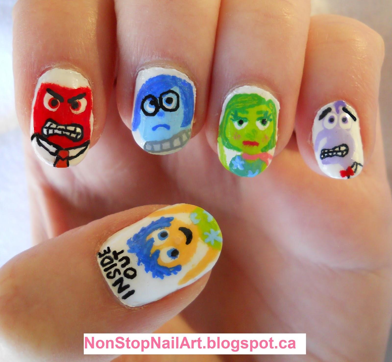 7efcd4e3d3e5 Disney Pixar Movie Inside Out Nails. Inspired by Just Alexiz. Joy